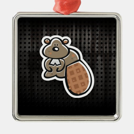 Cute Beaver; Cool Christmas Tree Ornaments