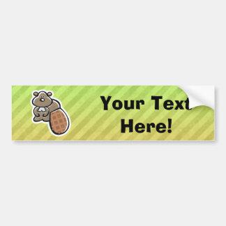 Cute Beaver Design Bumper Sticker