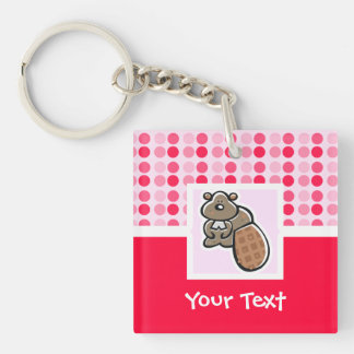Cute Beaver Key Ring