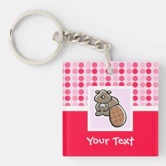 Cute Beaver Key Ring