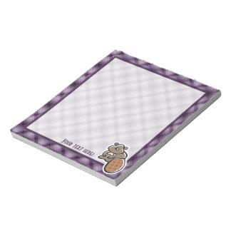 Cute Beaver; Purple Notepad