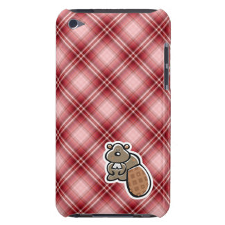 Cute Beaver Red Plaid Case-Mate iPod Touch Case