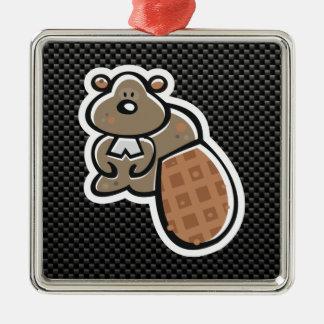 Cute Beaver Sleek Ornaments