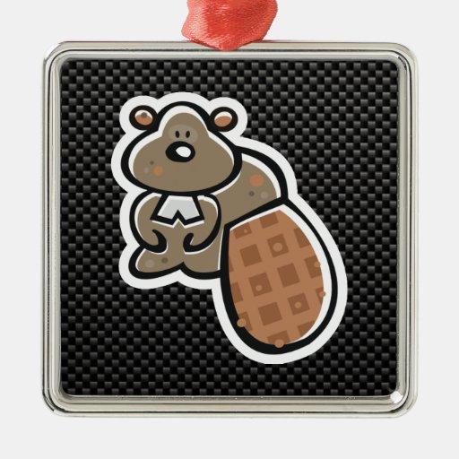 Cute Beaver; Sleek Ornaments