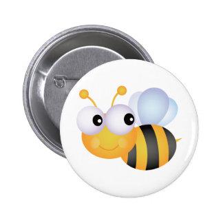 Cute Bee 6 Cm Round Badge