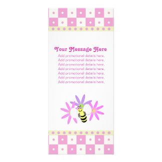 Cute Bee and Flowers Rack Cards
