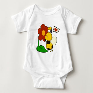 Cute bee baby bodysuit