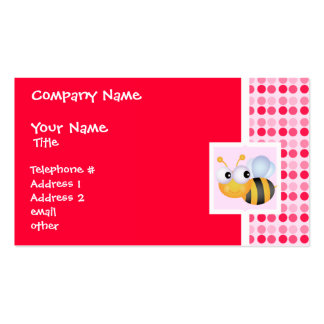 Cute Bee Double-Sided Standard Business Cards (Pack Of 100)