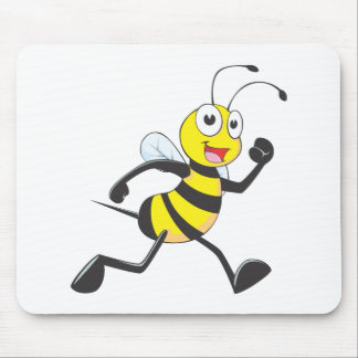 Cute Bee Cartoon Running Jogging Walking Shirt Mousepad