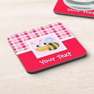 Cute Bee Beverage Coaster