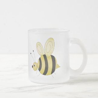 Cute Bee Frosted Glass Mug