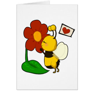 Cute bee greeting card