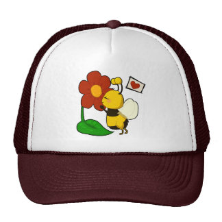 Cute bee mesh hats