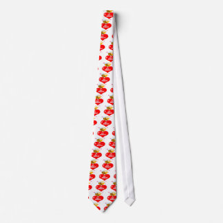 Cute Bee Holding Heart Saying be Mine Tie
