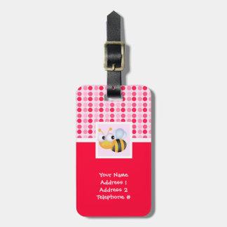 Cute Bee Luggage Tags