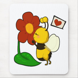 Cute bee mouse pad