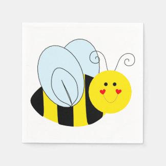 Cute Bee Paper Serviettes