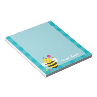 Cute Bee Personalized Notepads