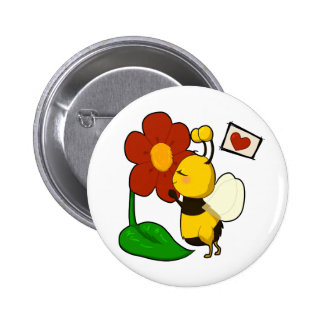 Cute bee pinback buttons