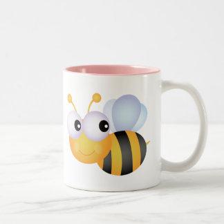 Cute Bee; Pink Mugs