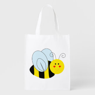 Cute Bee Reusable Grocery Bag