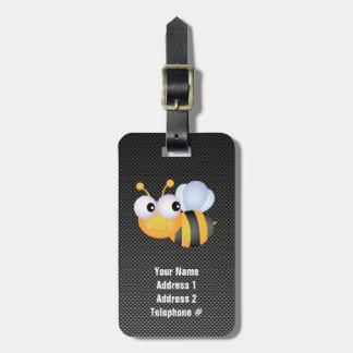 Cute Bee; Sleek Luggage Tags