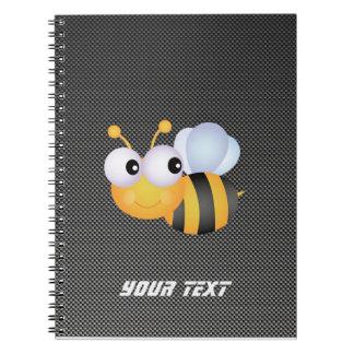 Cute Bee; Sleek Spiral Notebook