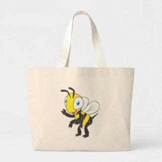Cute Bee Waving Hand Hi Hello Canvas Bags