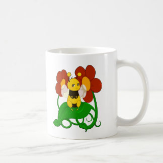 Cute Bee with flowers Coffee Mug