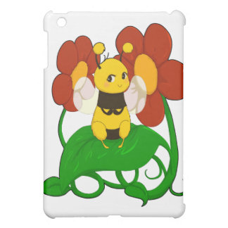 Cute Bee with flowers Cover For The iPad Mini
