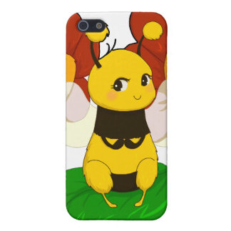 Cute Bee with flowers iPhone 5/5S Cover