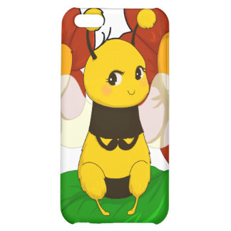 Cute Bee with flowers iPhone 5C Cases