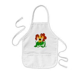 Cute Bee with flowers Kids' Apron