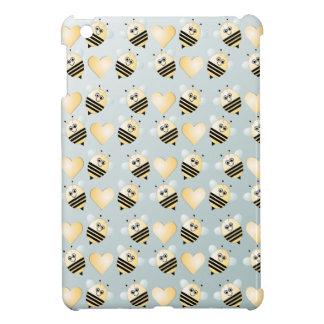 Cute Bees Honey Hearts iPad Mini Case