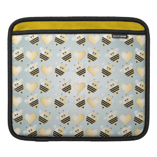 Cute Bees Honey Hearts iPad Sleeve
