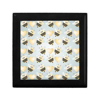 Cute Bees Honey Hearts Tile Gift Box