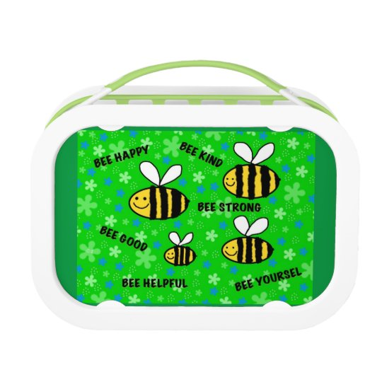 "'""Cute bees"" inspirational words kids school Lunch"