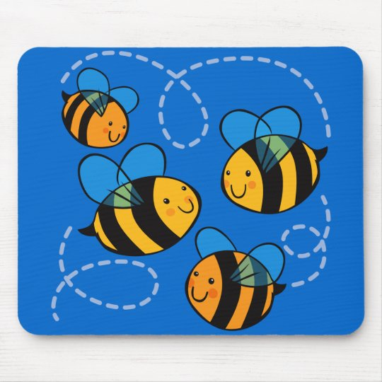 Cute Bees Mouse Mat
