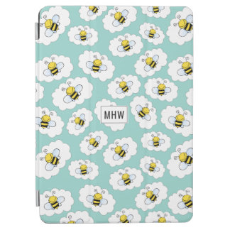 Cute Bees Pattern custom monogram device covers