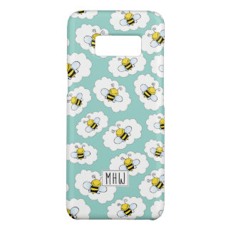 Cute Bees Pattern custom monogram phone cases