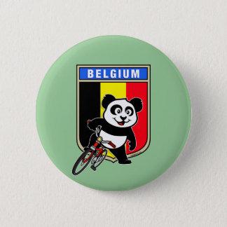 Cute Belgium Cycling Panda 6 Cm Round Badge