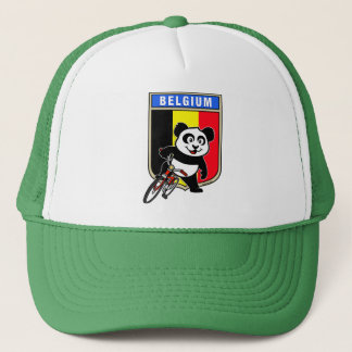 Cute Belgium Cycling Panda Trucker Hat