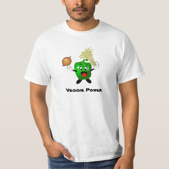 Cute Bell Pepper Cartoon Veggie Power T-Shirt