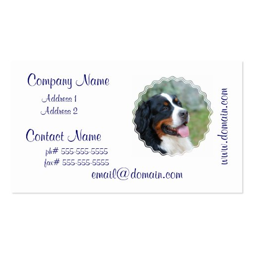 Cute Bernese Mountain Dog Business Card Templates