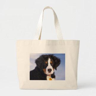 Cute Bernese mountain dog Large Tote Bag