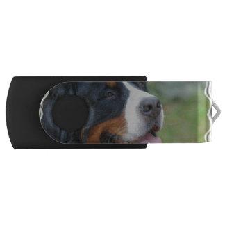 Cute Bernese Mountain Dog Swivel USB 2.0 Flash Drive