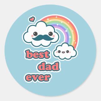 Cute Best Cloud Dad Classic Round Sticker