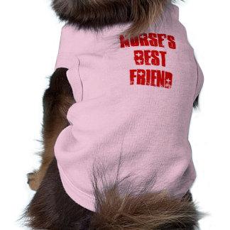 Cute Best Friend of Nurse Canine Sleeveless Dog Shirt