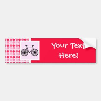 Cute Bicycle Car Bumper Sticker