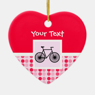 Cute Bicycle Ceramic Heart Decoration